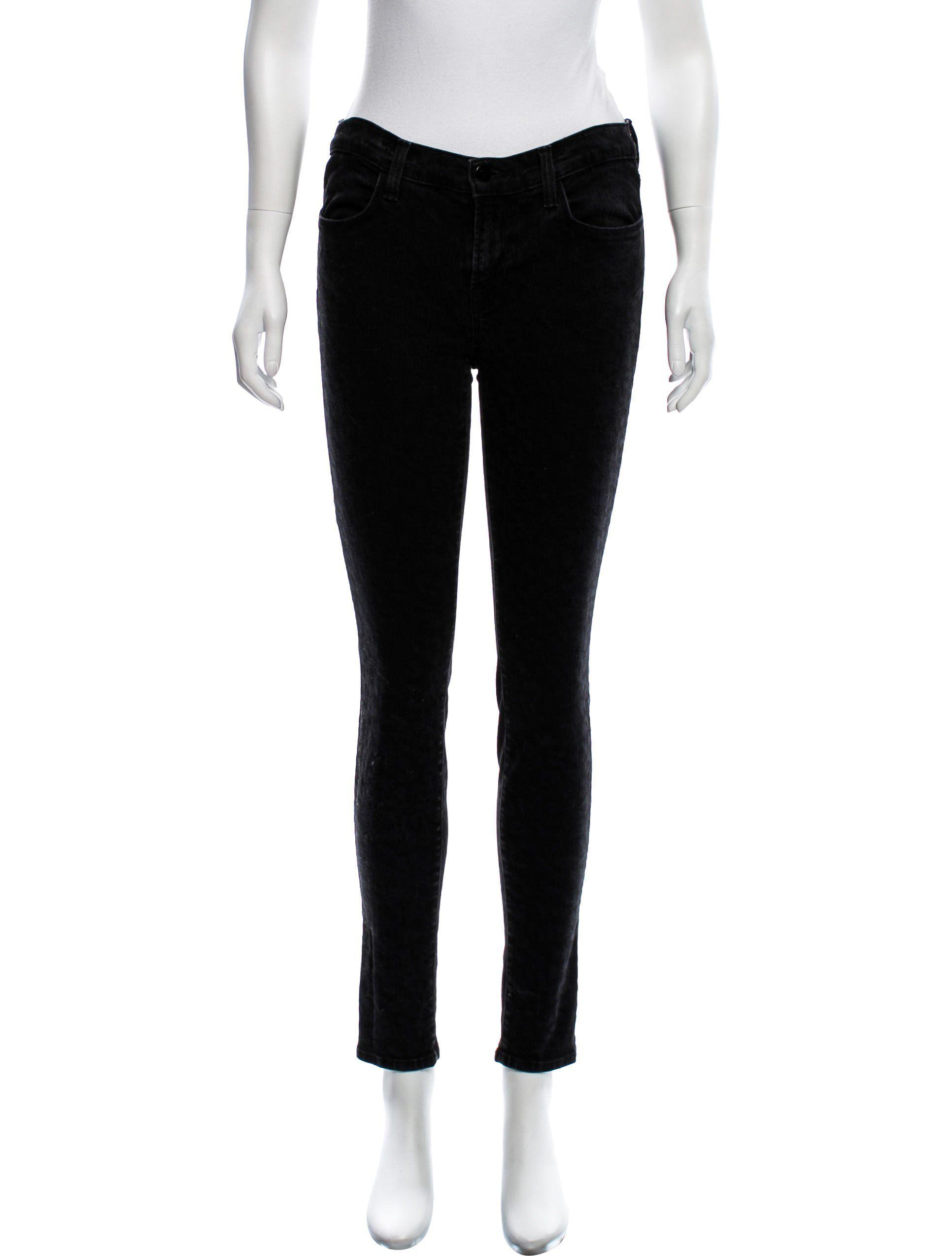 J brand green velvet dress  Black J Brand midrise skinny jeans with four pockets concealed zip