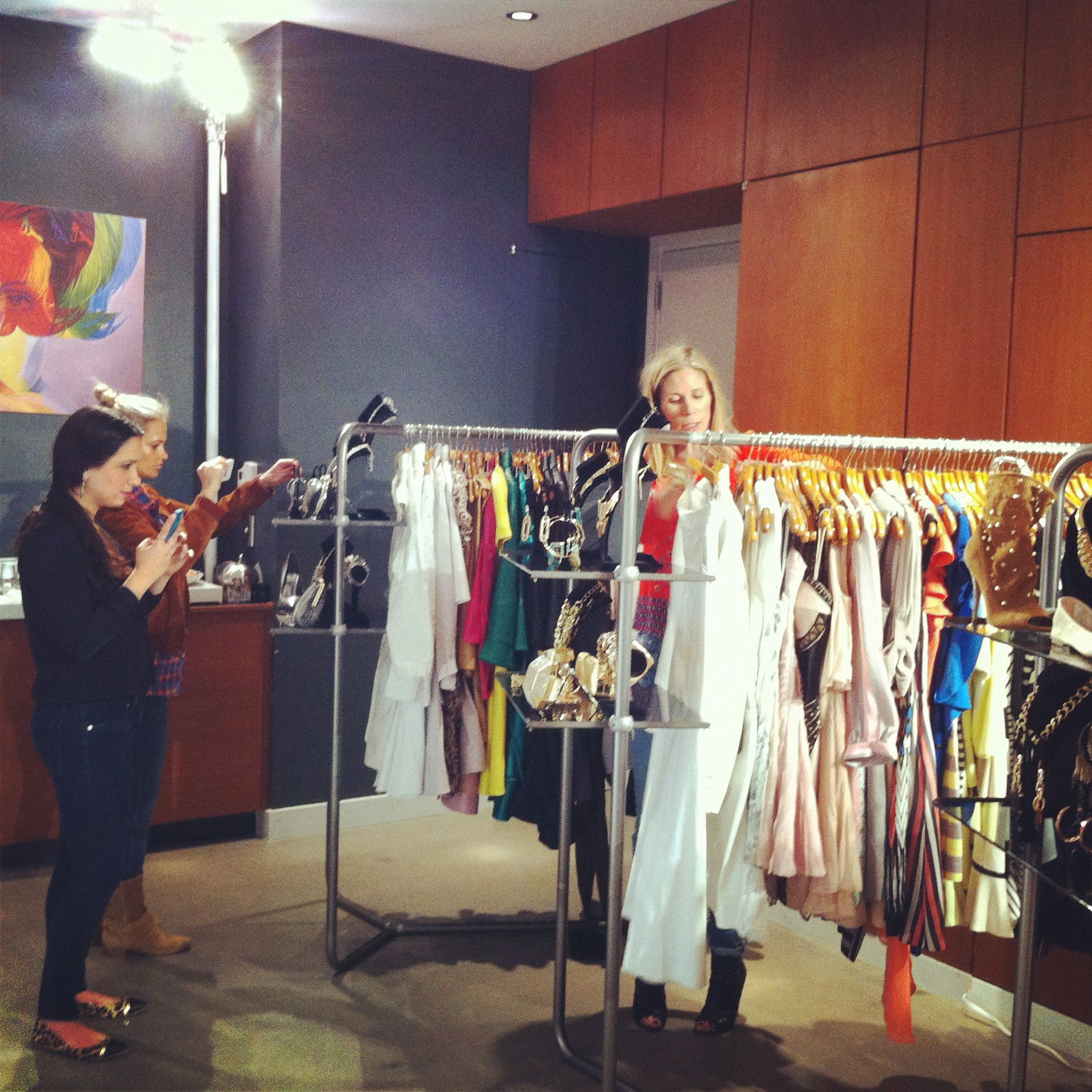 Editors view merchandise at the bebe Spring 2013 Press Preview.