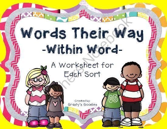 Words Their Way Within Word Pattern Spellers A Worksheet