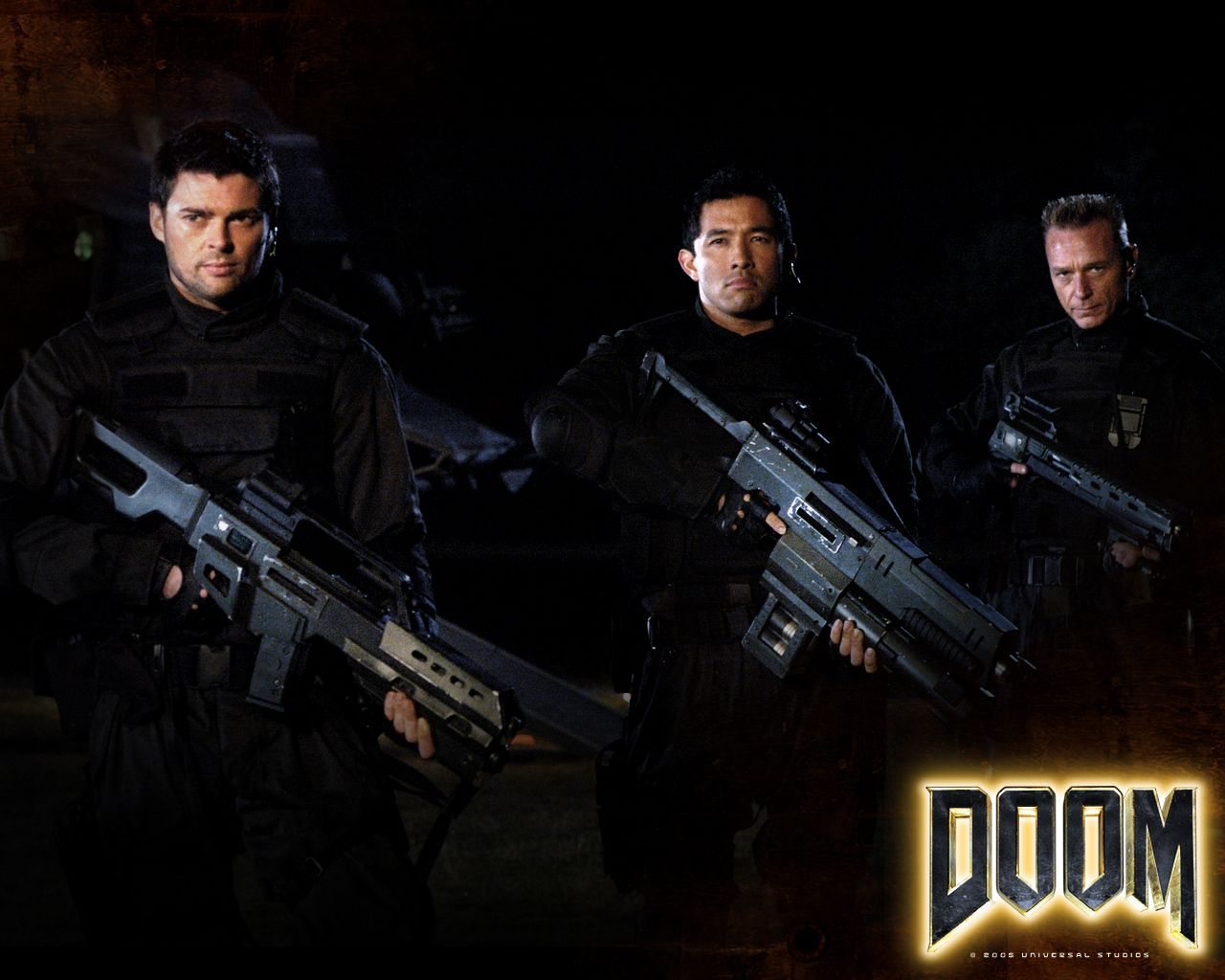 Watch Streaming HD Doom, starring Karl Urban, Rosamund Pike, Dwayne Johnson, Deobia Oparei. Space Marines are sent to investigate strange events at a research facility on Mars but find themselves at the mercy of genetically enhanced killing machines. #Action #Adventure #Horror #Sci-Fi #Thriller http://play.theatrr.com/play.php?movie=0419706