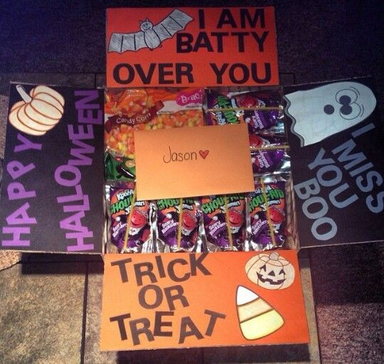 Image result for halloween themed care package