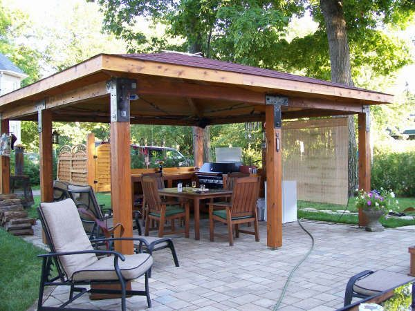 log gazebo plans back yard pinterest ext rieur refuges et terrasses. Black Bedroom Furniture Sets. Home Design Ideas