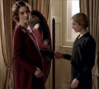 pregnant Lady Mary with her Lady's Maid, Anna. Downton Abbey ...
