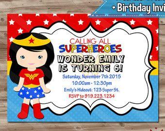 Superhero Birthday Invitation Superhero by KawaiiKidsDesign