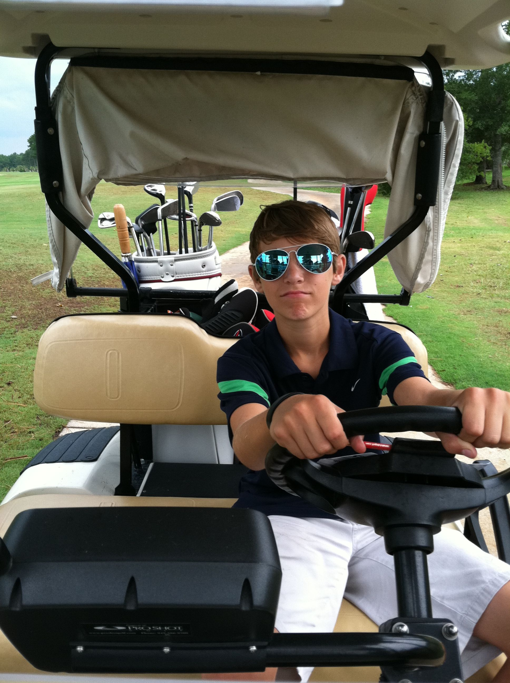 Golfing with son! Http://www.kingofcarts.net