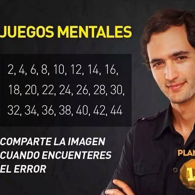 Juegos Mentales Comparte La Imagen Cuando Encuentres El Error