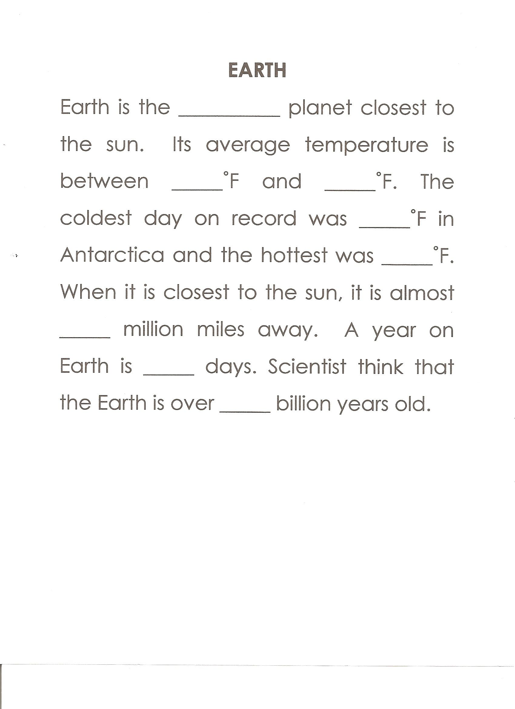 Earth Worksheet Answers Third 64 80 129 159 93 365