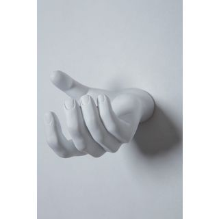 Interior Illusions Rock on Hand Wall Hook - White