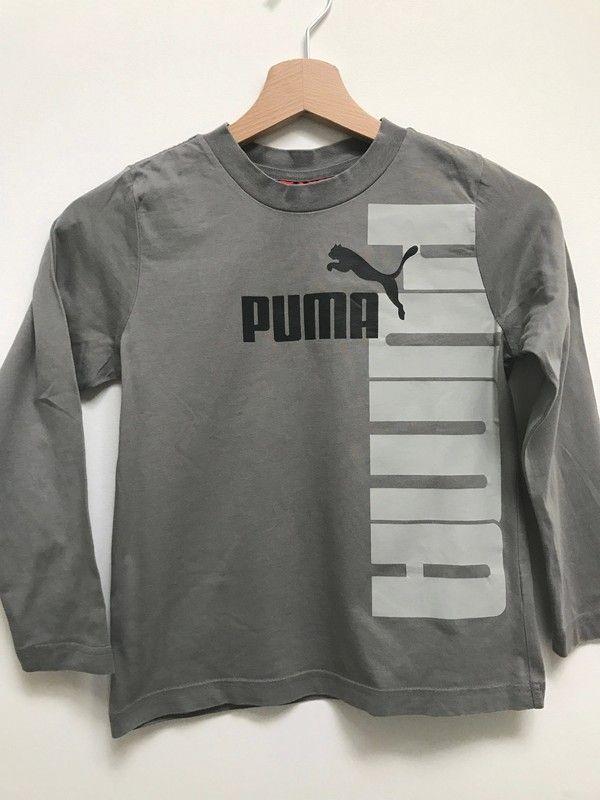 88d6b4037ae73 T-shirt Puma gris - T-shirt Puma gris pour garçon à manches longues ...