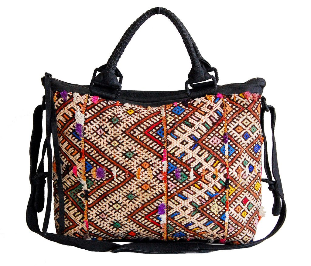 Kuchen Design Maroc Weekender Bag Made From Colorful Moroccan Kilim Carpets