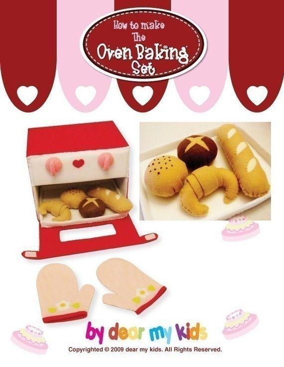 Yummy Bake Oven Set PDF Patterns by dearmykids on Etsy