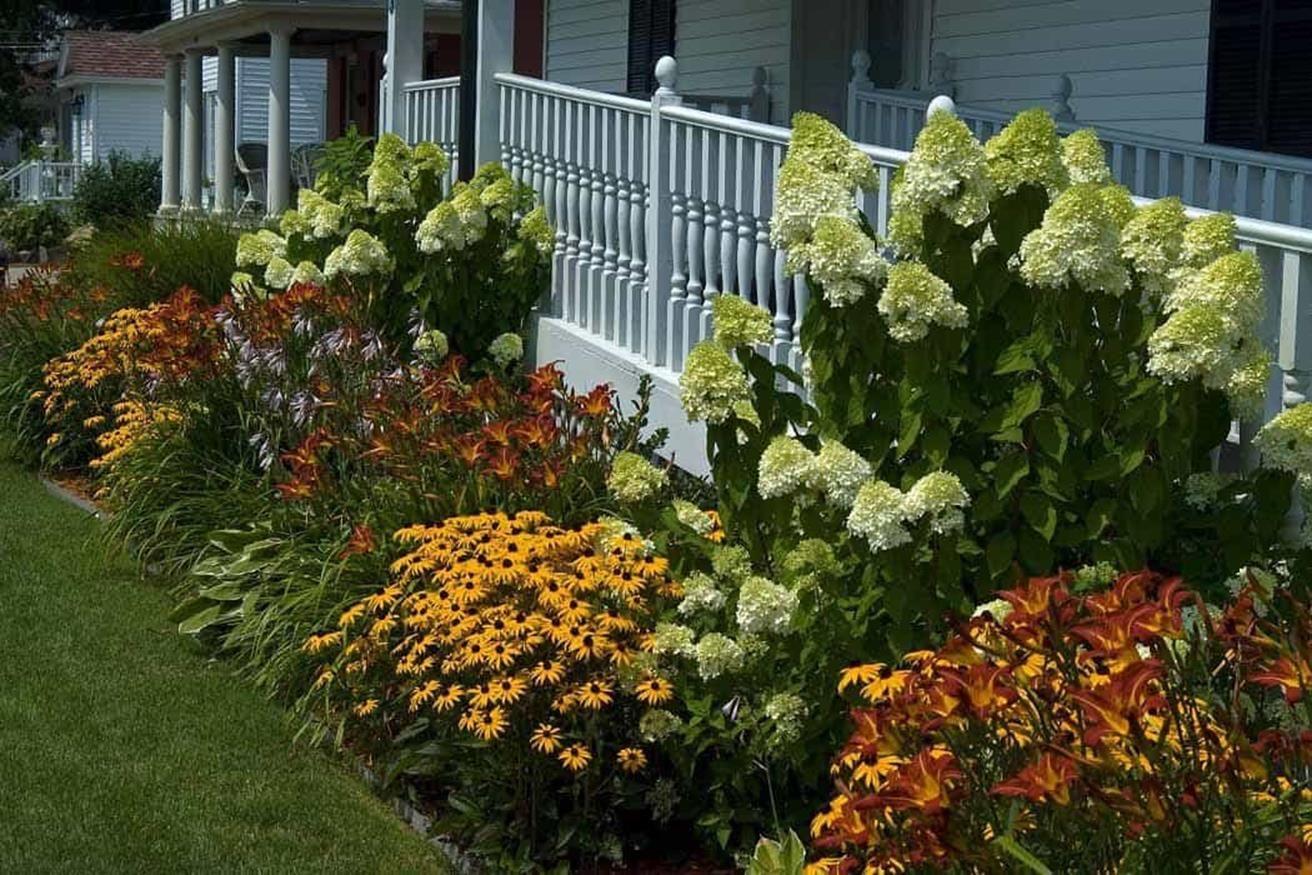 Planting A Perennial Garden That Is Low Maintenance In 2020 Hydrangea Landscaping Country Garden Decor Front Garden Design