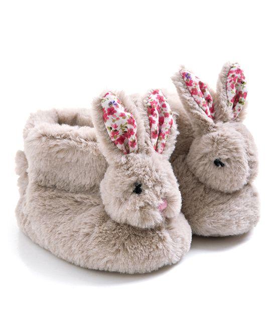 Baby girl bunny slippers | Rabbit