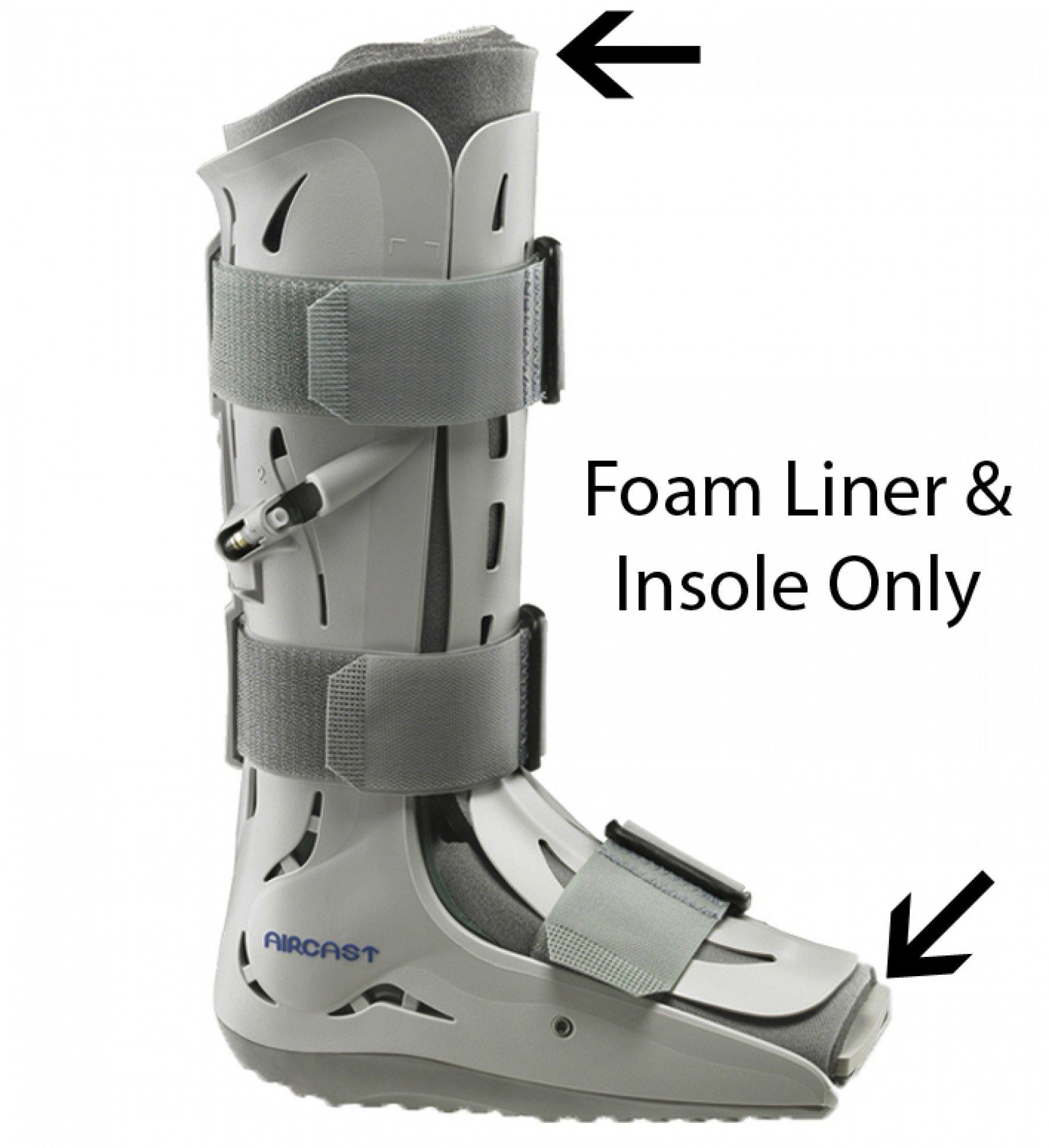 Aircast Walker Replacement Foam Liner W Insole Walker Boots Broken Leg Ankle Injury