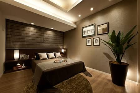 アクセントクロス 寝室 - Google 検索 | ベット インテリア, ベッド ...