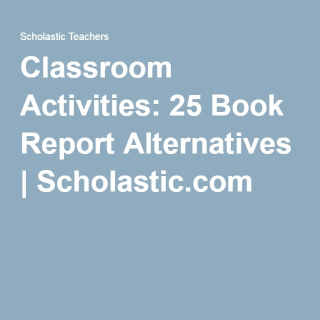 25 book report alternatives