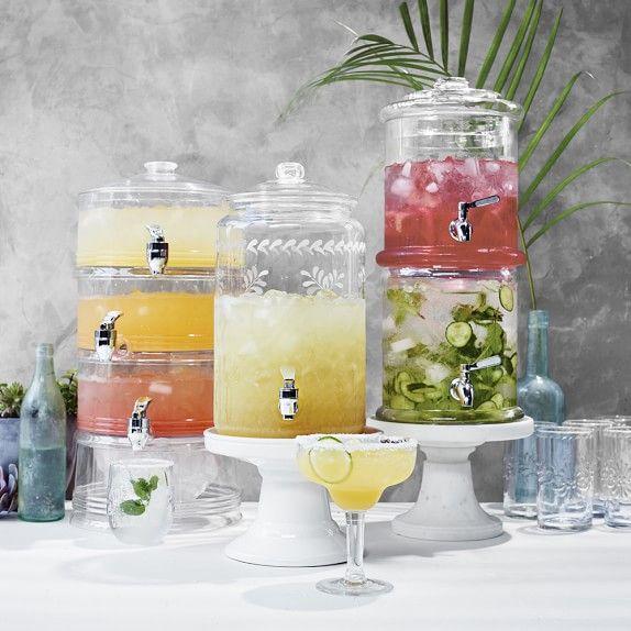 Triple Acrylic Beverage Dispenser Glass Beverage