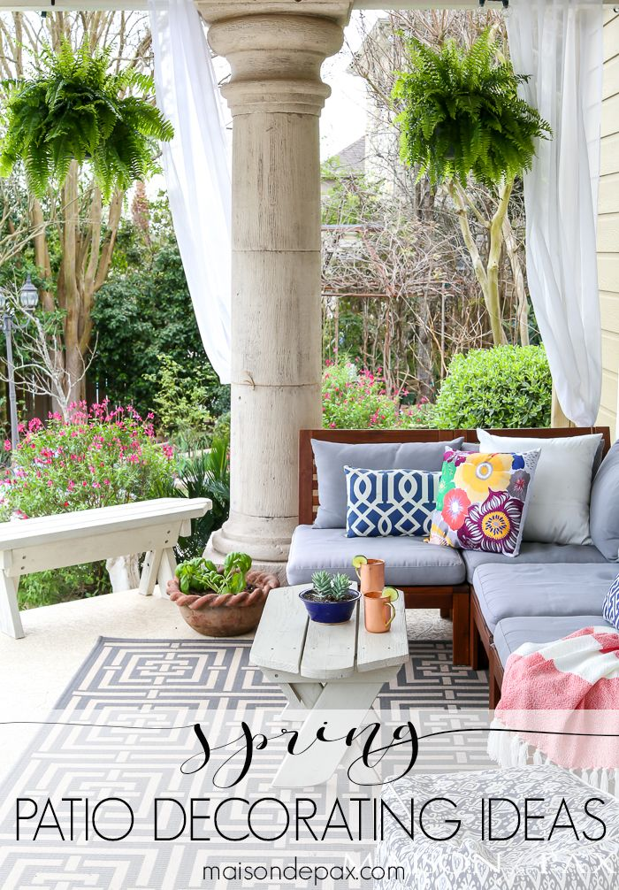 Spring Patio Decorating Ideas Patio Decor Outdoor Patio Decor