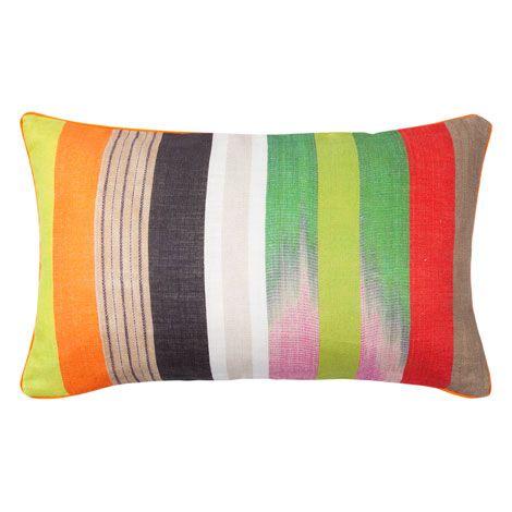 kissen aus leinen mit streifenmuster zara home deutschland 23 pillows w personality zara. Black Bedroom Furniture Sets. Home Design Ideas