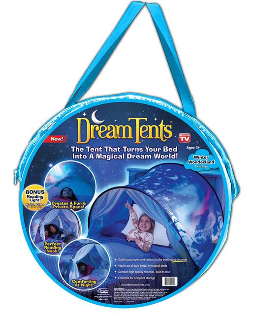 DreamTents Fun Pop Up Tent Winter Wonderland | Kids bed