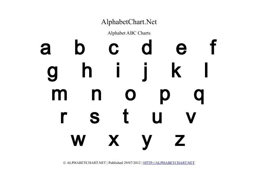 image regarding Printable Lowercase Alphabet Letters titled Printable Lowercase Alphabet Letters Misc Board