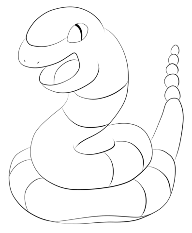 Ekans coloring page from Generation