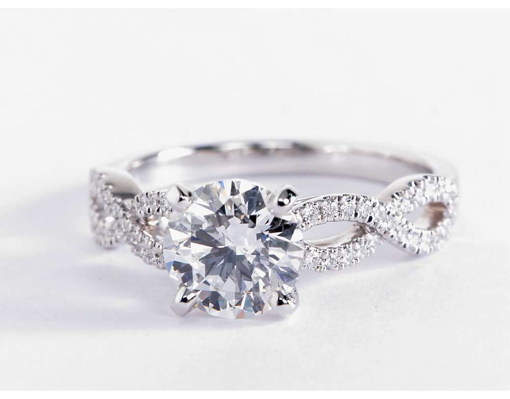 infinity cut classic pear media engagement gold wedding diamond unique ring delicate