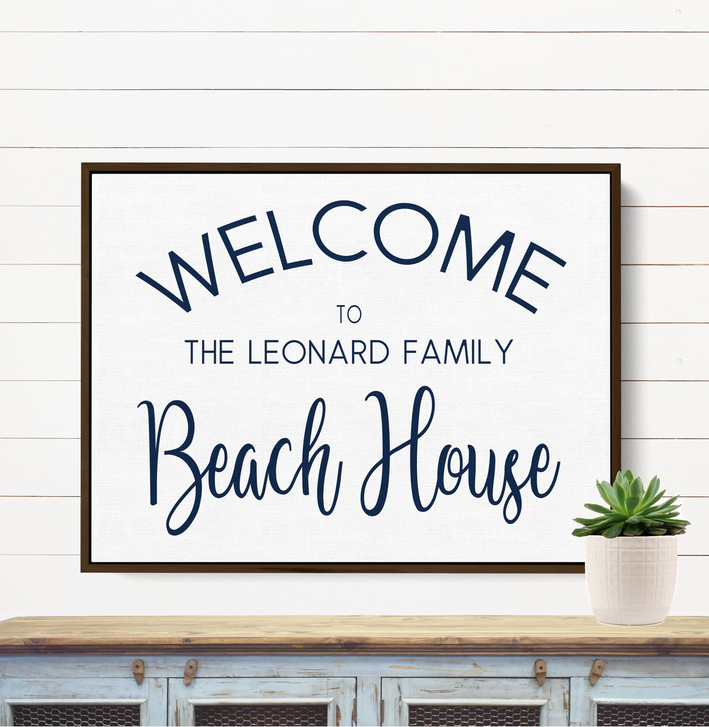 Personalized Beach House Sign Family Last Name Sign Decor Special Name Sign Housewarming Gift Welcome Wall Art Beach Home Decor In 2020 Personalized Lake House Signs Lake House Signs Personalized Lake House