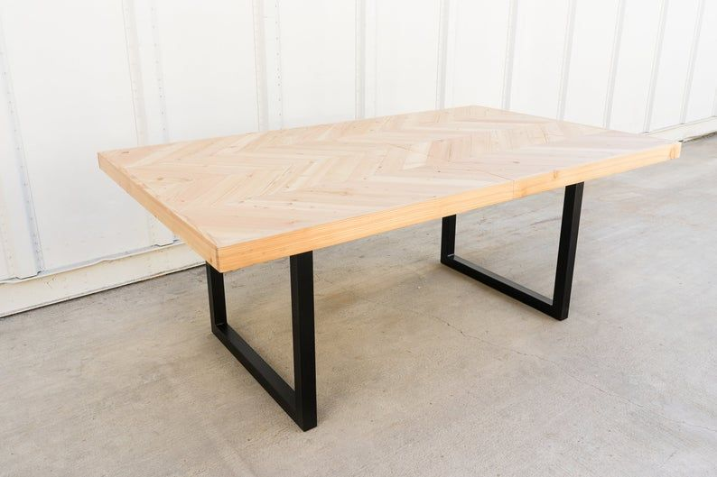 Chevron Dining Table Expandable Table Scandinavian Table In 2020