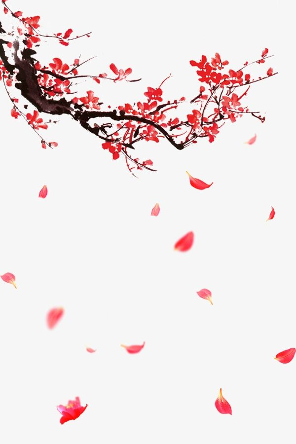 Japanese Garden Painting Cherry Blossoms