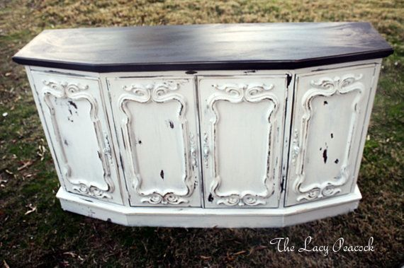 Recycled Decorative Cabinet Doors With Images Shabby Chic Tv Stand Shabby Chic Decor Shabby Chic Table