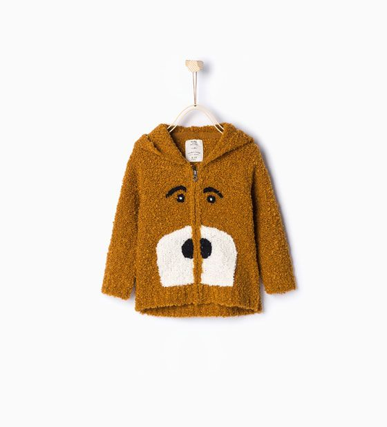 Image 1 of Knit cardigan with face from Zara