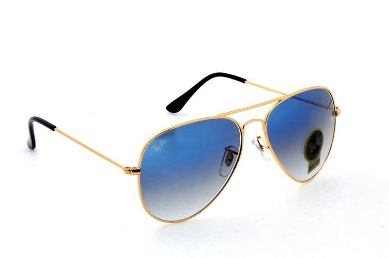 ray ban sunglasses blue aviator  Ray Ban Blue gradient