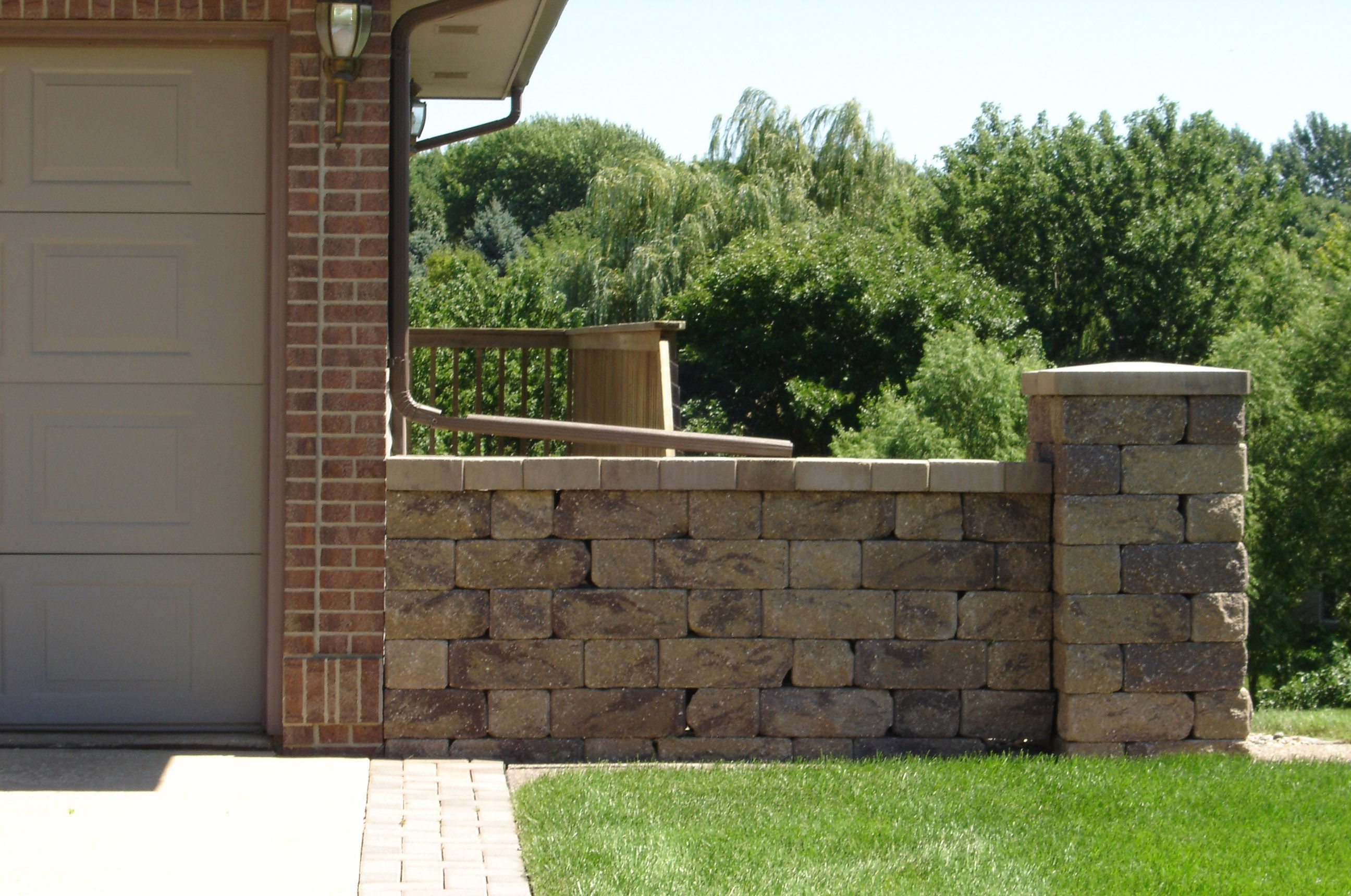 Retaining Wall Interlocking Blocks Block Walls Privacy Fence