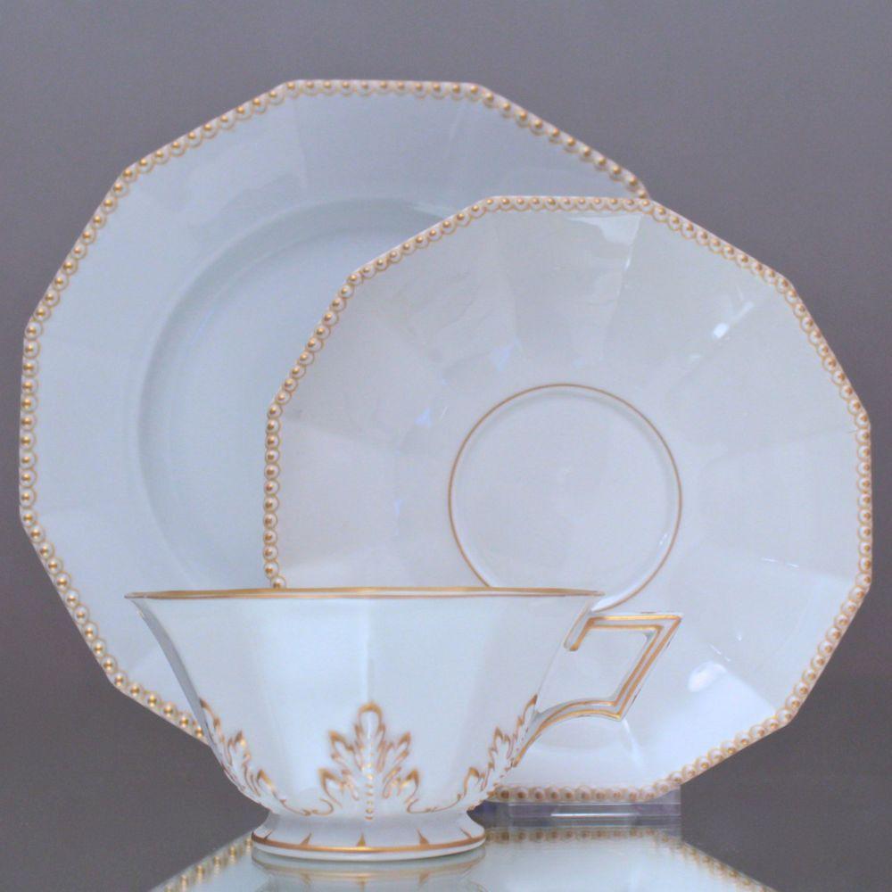 Nymphenburg: Teegedeck aus dem  Perl Service, Teetasse, Gedeck, Gold, 4979, tea cup