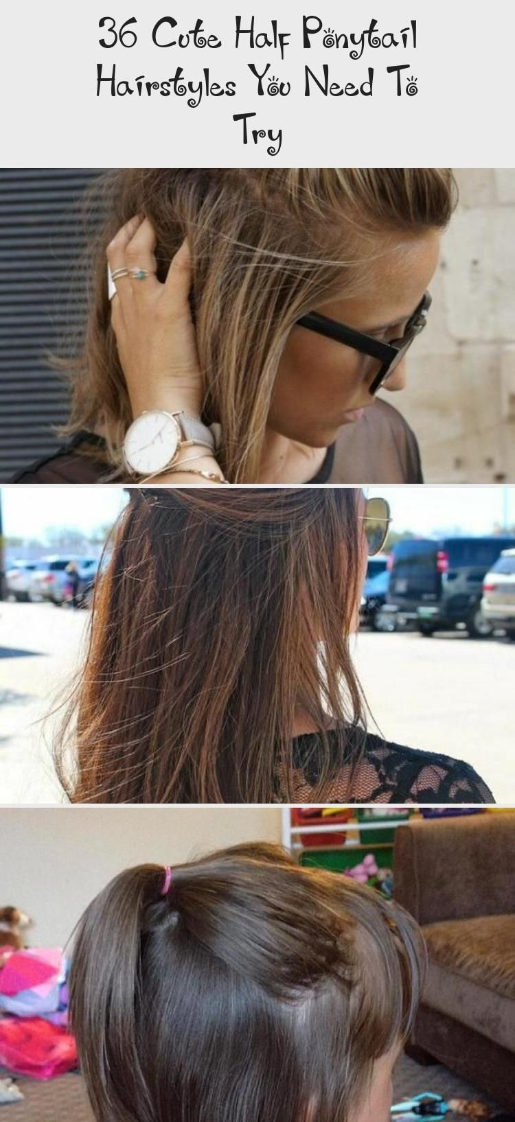 36 Cute Half Ponytail Hairstyles You Need To Try In 2020 Hair Styles Half Ponytail Try On Hairstyles