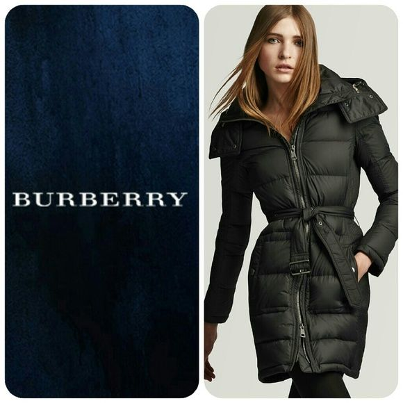 Auth BURBERRY Puffer Long coat Authentic Burberry Puffer long coat  Retail Price $980 Fight the chill at the peak of luxury in this Burberry Brit puffer coat. A belted waist flatters the silhouette for stunning all-day wear. Fill: white goose down cluster/white goose feathers; lining panels: polyester; sleeve lining: polyamide Funnel collar with snap closures, front zip closure Belted, off-seam zip pockets with flap detail, long sleeves Only worn a couple times  LIKE NEW condition with no…