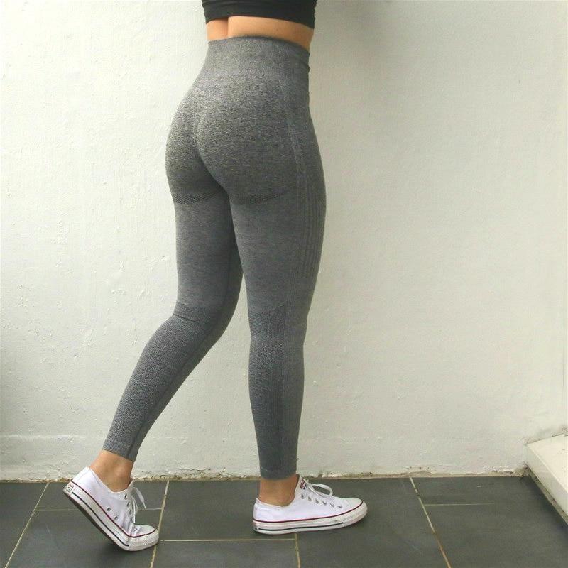 Womens Seamless Yoga Pants High Waist Gym Sportswear Training Fitness Leggings