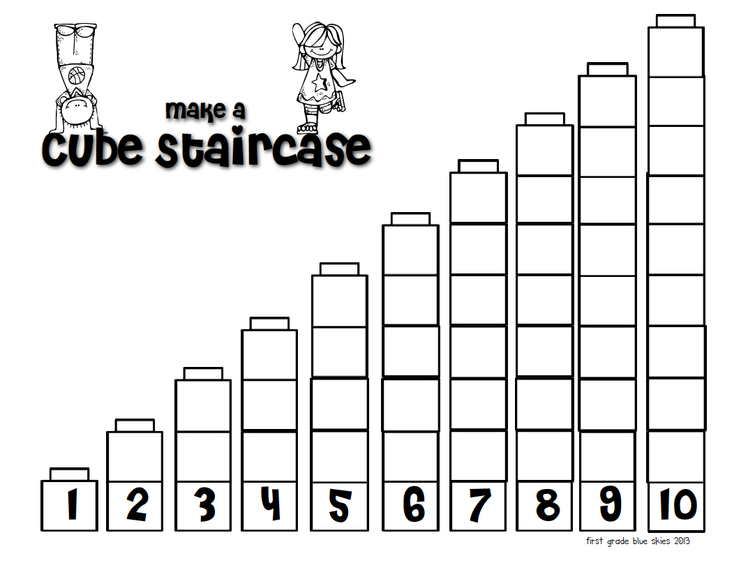 First Grade Blue Skies Pete The Cat Building A Staircase