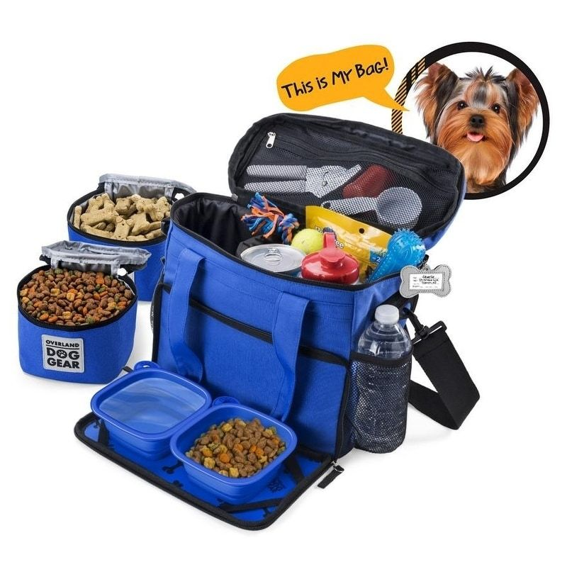 Overland Dog Gear Week Away Bag Small Dogs Pink Dog Bag Dog