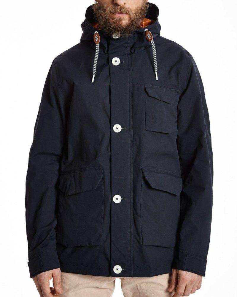 b43469b8fb73 Elvine Bentley Jacket Dark Navy | Terraces Wear | Jackets, Spring ...