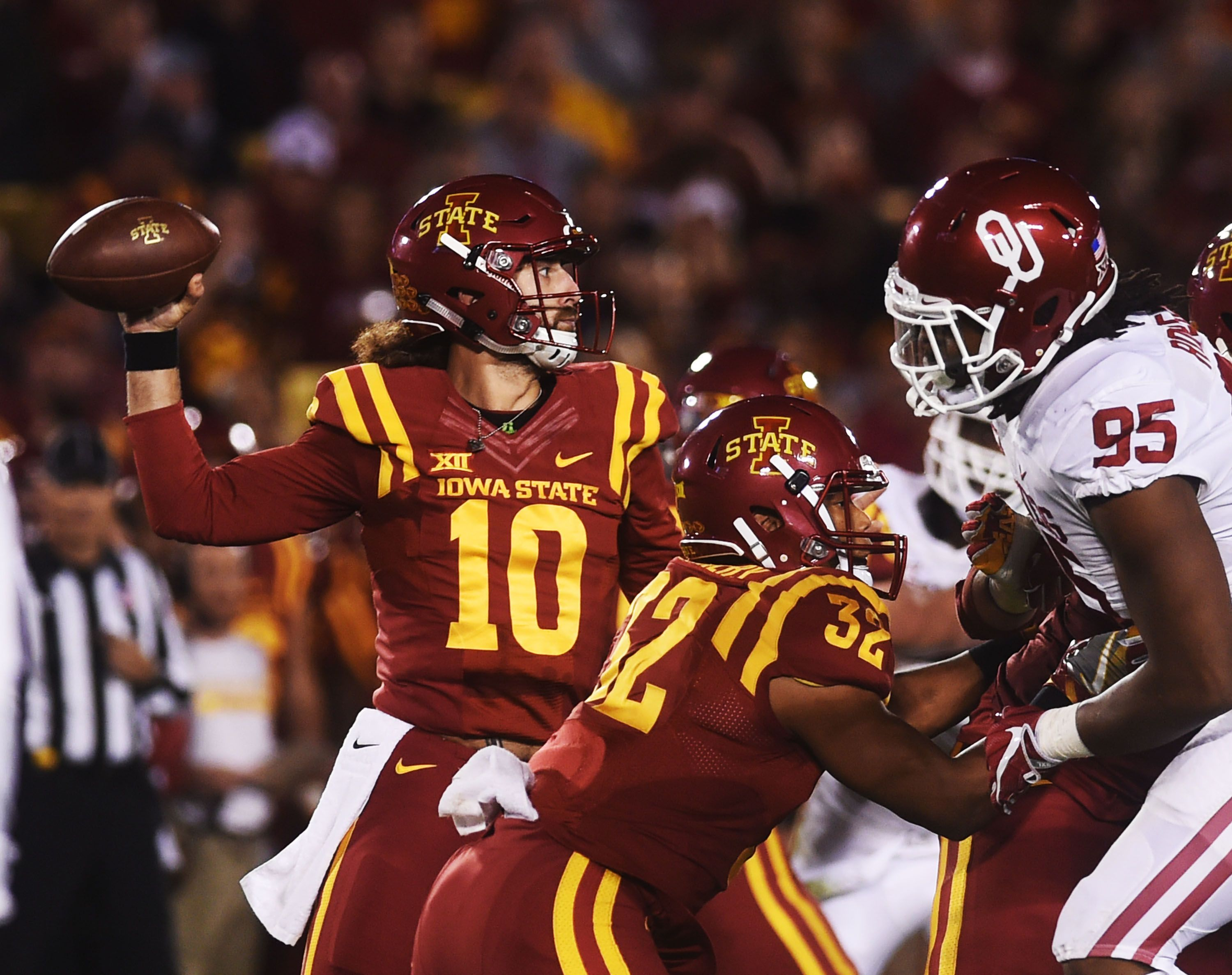 In the last two games, Iowa State quarterback Jacob Park