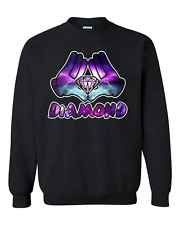 Galaxy Cartoon Hands and Diamond Designs Unisex Crewneck