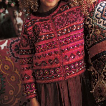 Un cardigan tricoté façon gipsy | Patterns to knit | Tricot