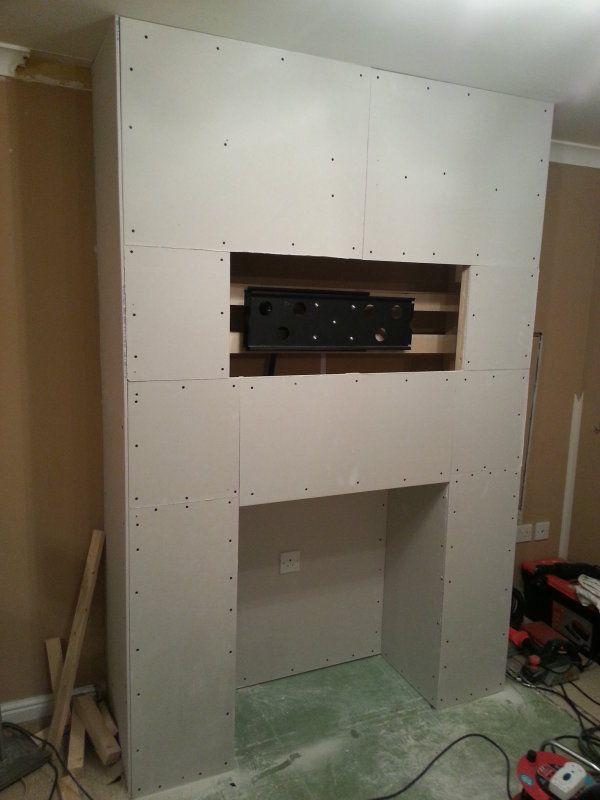 Make a false chimney breast | home ideas | Pinterest : false fireplace : Fireplace Design