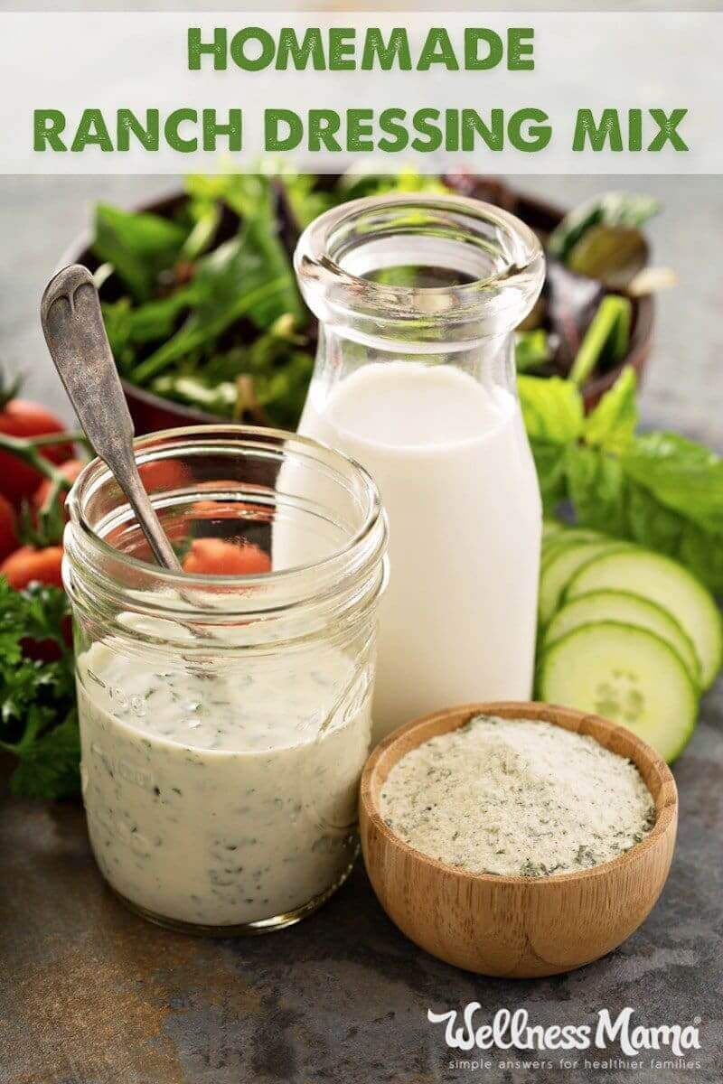 Healthy Ranch Dressing Mix Recipe Healthy Ranch Dressing Ranch Dressing Recipe Salad Dressing