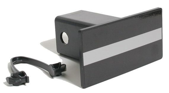 Thin Silver Line Correction Officer Reflective Hitch