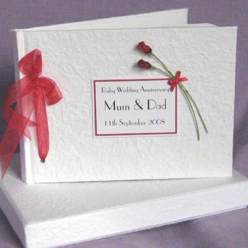 Ruby wedding gift ideas for parents uk