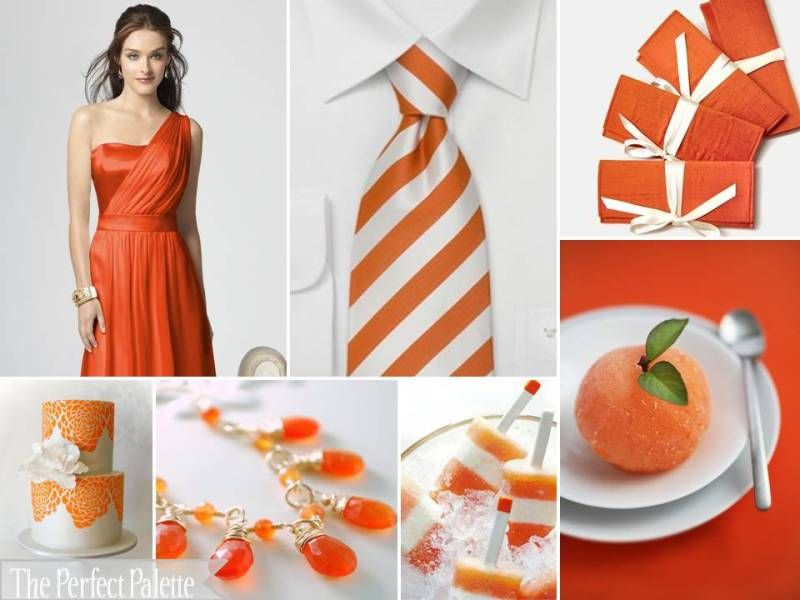 Orange And White Wedding Dress - Ocodea.com