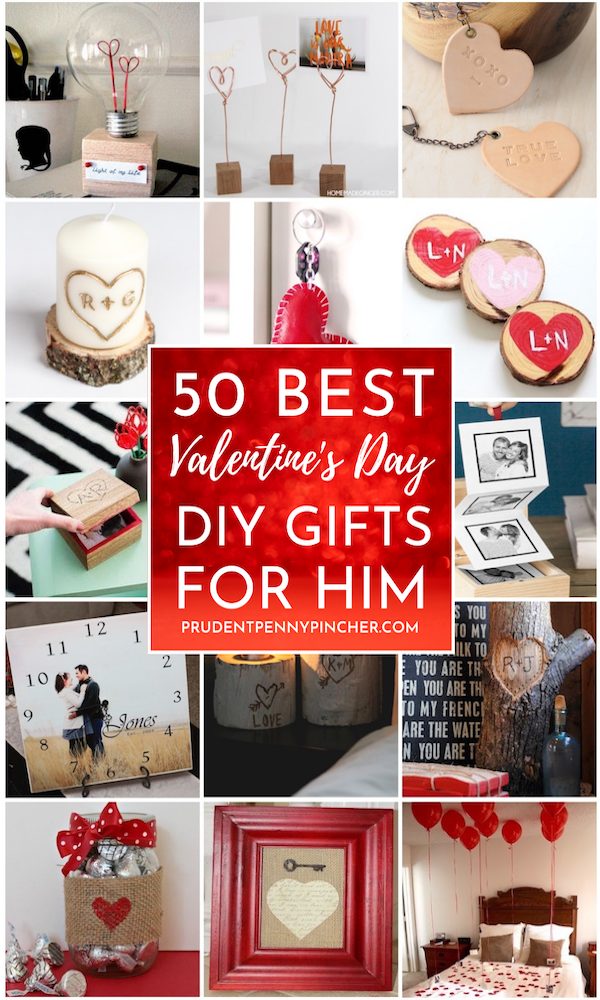 50 Diy Valentines Day Gifts For Him In 2020 Romantic Diy Gifts Valentine S Day Diy Diy Valentines Day Gifts For Him